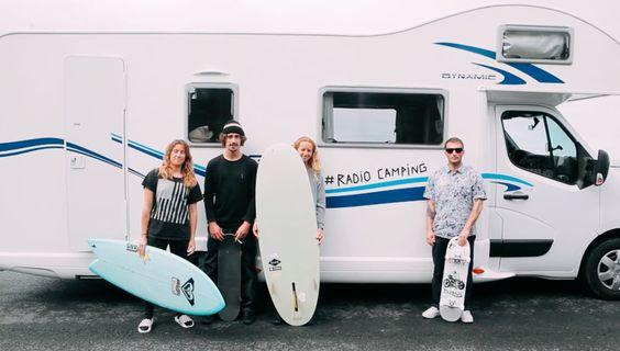#RADIOCAMPING ist die Geschichte von zwei Surferinnen, zwei Skatern und einem Wohnmobil.
