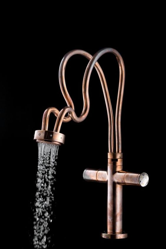 Himmapan is a range of faucet and showers made with Swarovski element by COTTO: http://www.archello.com/en/product/himmapan #Design #Bathroom #Taps: