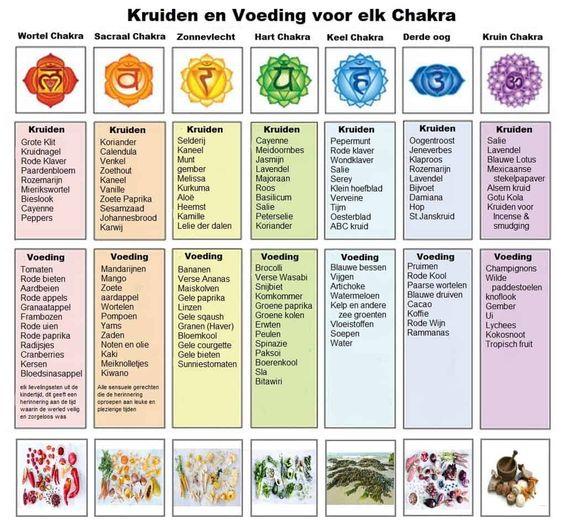Hoe chakra's in verband staan met en beïnvloed worden door voeding