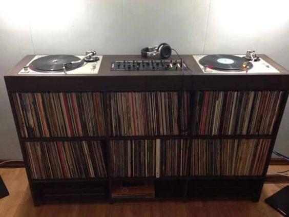 neat album collection set-up
