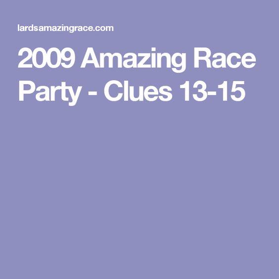 2009 Amazing Race Party - Clues 13-15