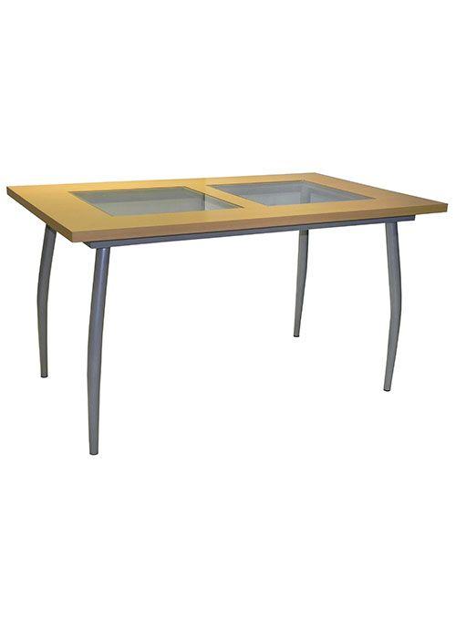 Mesa pintada cairo mesa base 4 patas terminacion gris for Comedores 4 patas