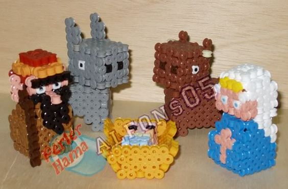 3D Nativity scene perler bead sprite by Alfons05