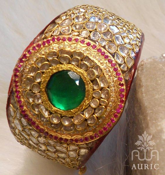 Stunning Kada Pachi Work - See more stunning jewelry at StellarPieces.com!