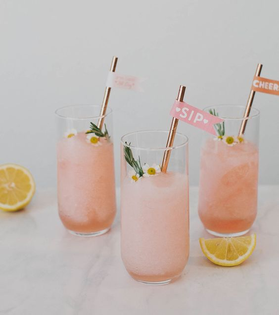 DIY Drink Tags with Frose // frosé recipe