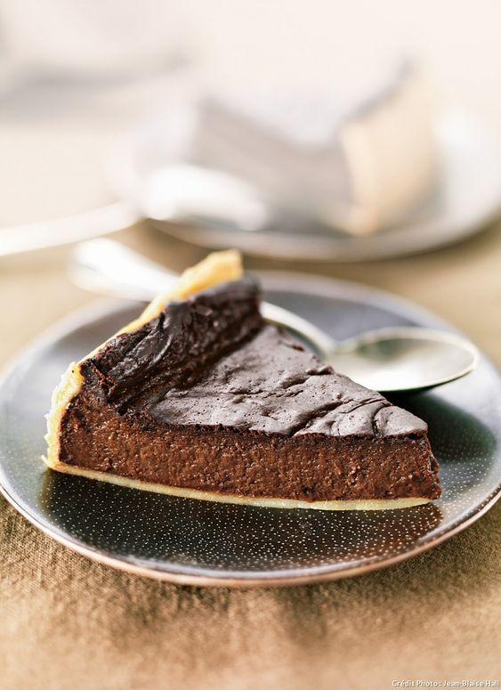 Jacques Génin a rajouté une bonne dose de chocolat àce traditionnel flan pâtissier,son péché mignon, et le nôtre.