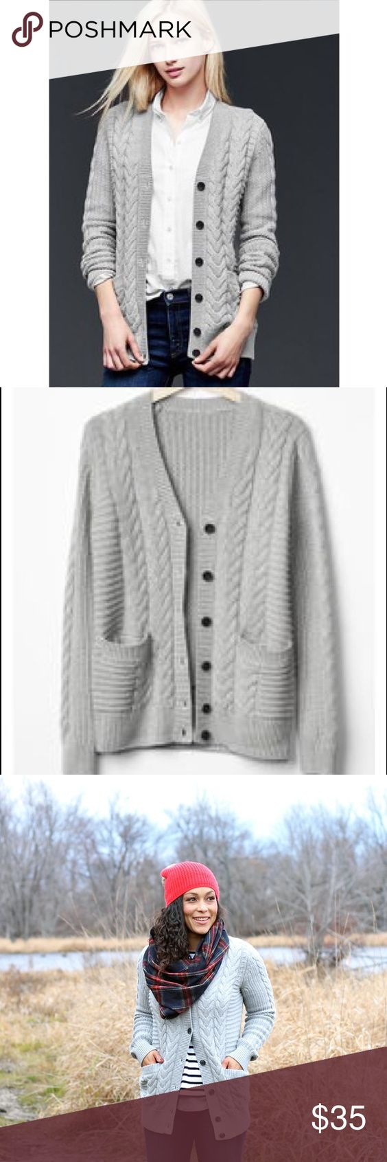 Gap honeycomb cable knit cardigan | To be, Sweater cardigan and Cable