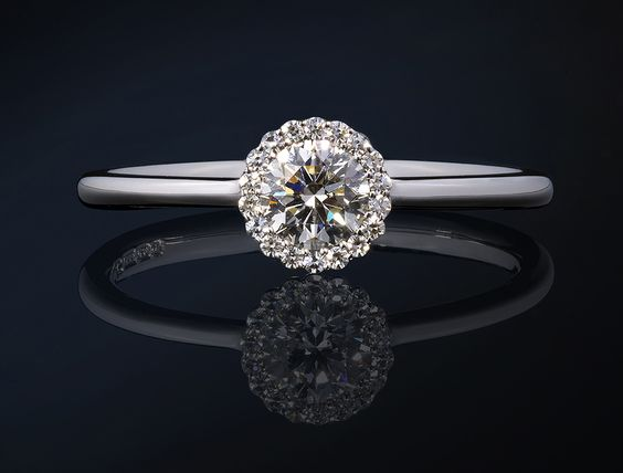 The dainty, new Cannelé engagement ring by award-winning British jewellery designer Andrew Geoghegan.