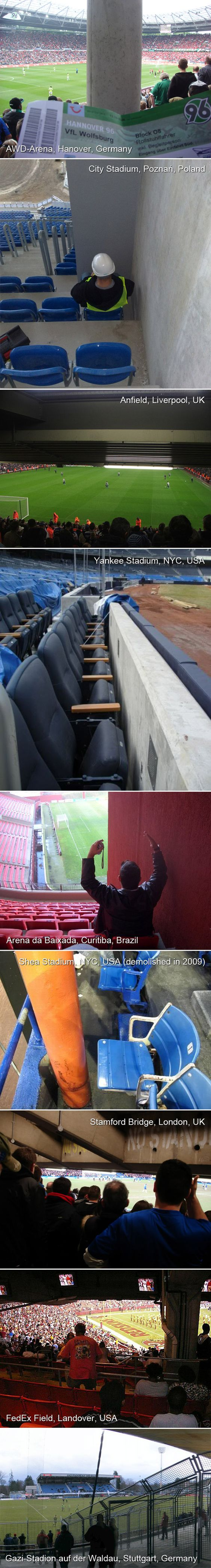 Terrible seats in stadiums around the world