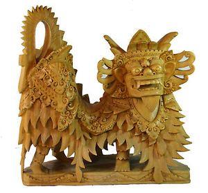 DRACHE-Statue-Figur-handgeschnitzt-China-Holz-Edel-30-cm-Edel-RARITAT-RD37