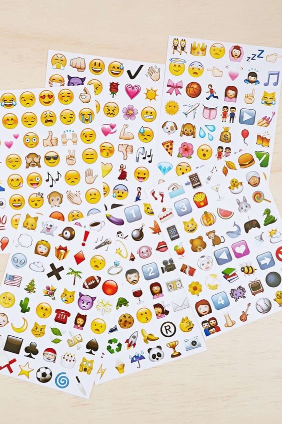 Emoji Sticker Sheet Set - Urban Outfitters: