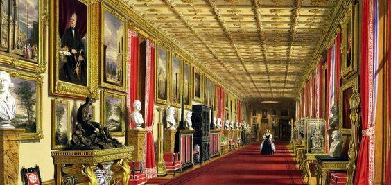 Besuch und Besichtigung der Sehenswürdigkeit Schloss Windsor, Windsor Castle bei London, Wochenendresidenz von Queen Elisabeth