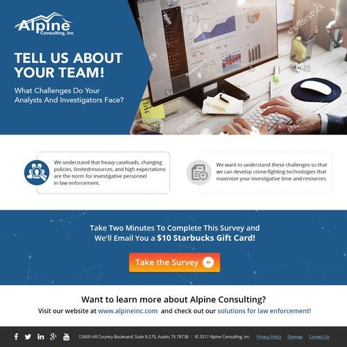 Landing Page Alpine Consulting Landing Page Design Page Design Web Banner