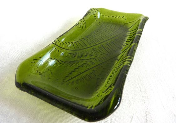 Fern Green Olive Dish by bprdesigns on Etsy, $25.00