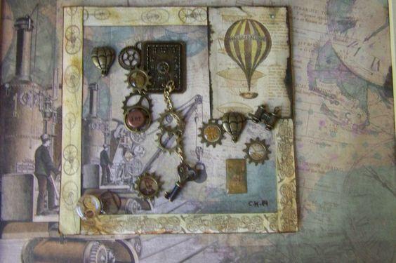 Wohndekoration - Steampunkbild- und Collage - ein Designerstück von Vintage-Steampunk-Chic bei DaWanda