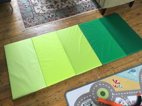 PLUFSIG折りたたみ式ジムマット&平均台で子供のプレイルームが充実!