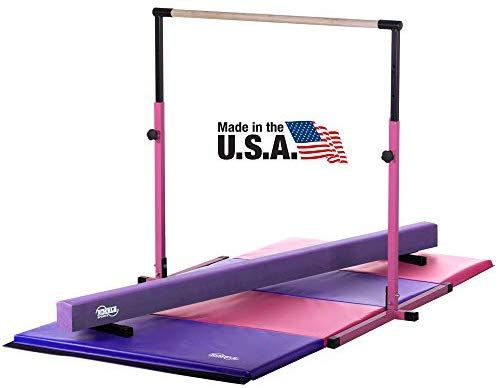 Amazon Com Little Gym Adjustable Horizontal Bar Purple Low