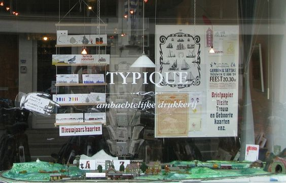 Typique ~ letterpress shop in Amsterdam