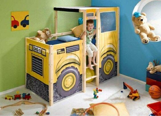 Décoration de lit d'enfant - idées pour les filles et les garçons
