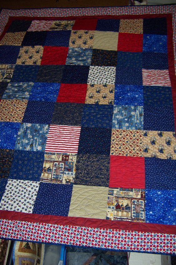 Veterans fabric quilt Ready to Ship by Iloveitquilts on Etsy