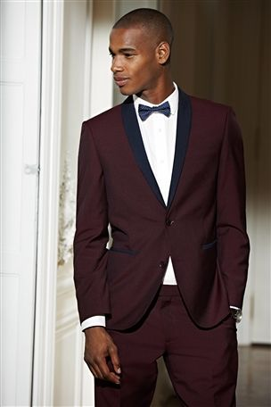 Buy Burgundy Slim Fit Suit: Jacket from the Next UK online shop