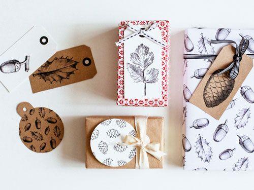 Papel y tarjetas para regalo blanco y negro descargables - Manualidades para cumpleanos ...