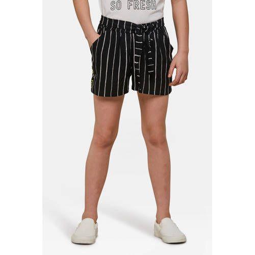 Welp Gestreepte loose fit short zwart/wit - Mode, Meisjes korte broek KH-04