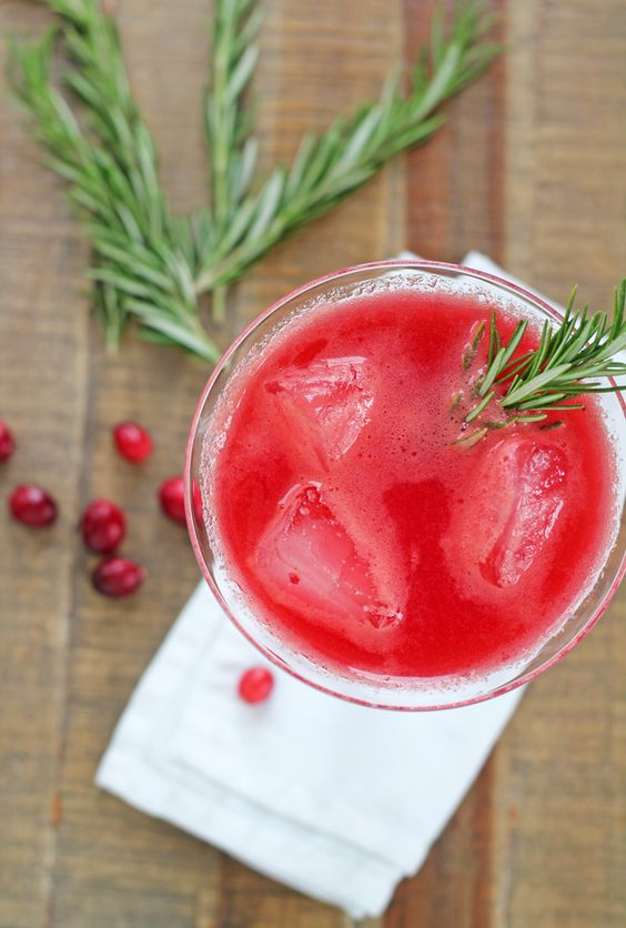 For the Love of Food: Cranberry Rosemary Refresher (Add Vodka or Sparkling Wine to make it extra happy )
