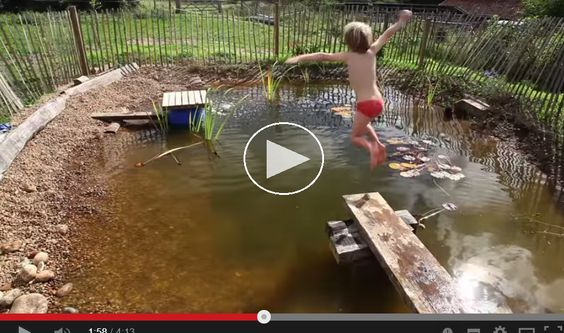 Natural swimming holes for the yard.