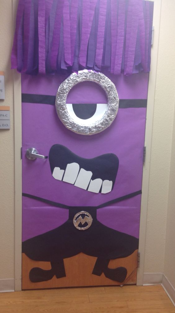 Purple Minion Door Oct 2014 Diy Pinterest Purple