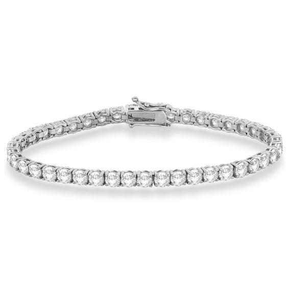 Eternity Diamond Tennis Bracelet 14k White Gold (10.01ct) - Allurez.com