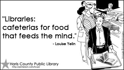Feed your mind at the library!