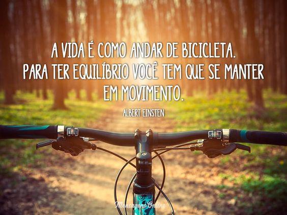 A vida é como andar de bicicleta