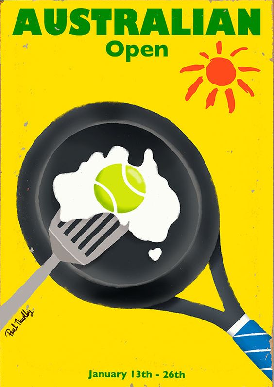 Australian Open- tennis time, the first major- Paul Thurlby Illustration / Illustration