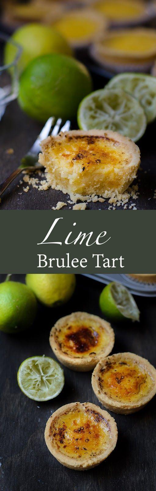 Lime Brûlée Tart