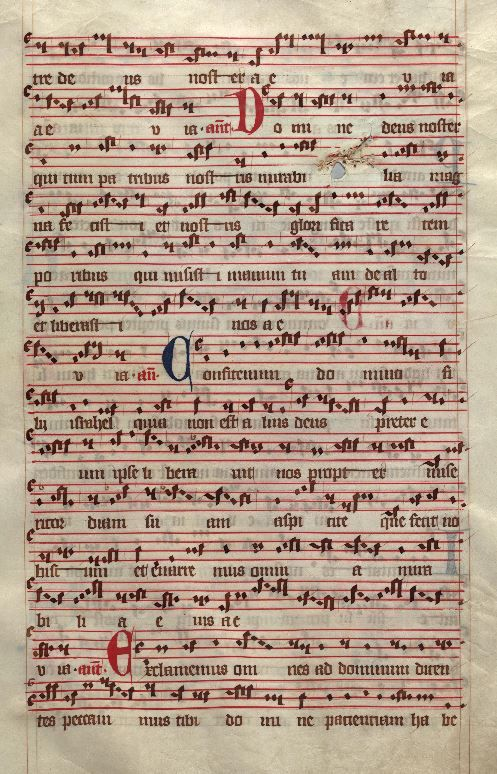 Moosburger Graduale um 1360 Moosburg Cim. 100 (= 2° Cod. ms. 156)  Folio 185