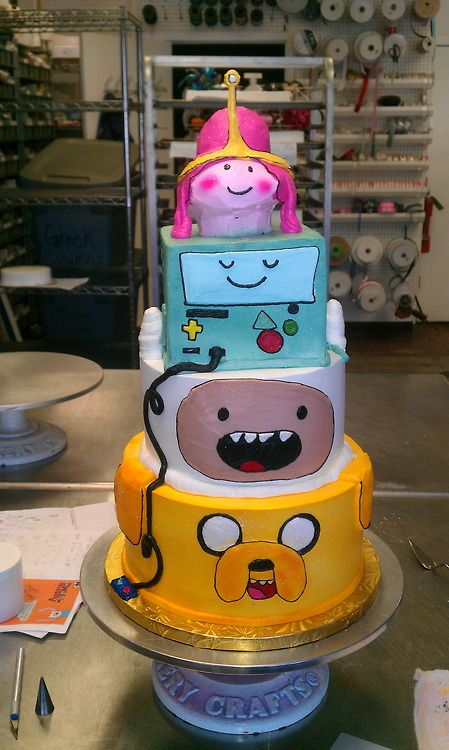 Huge Adventure Time Cake My Kids Would Love This Rylans Party