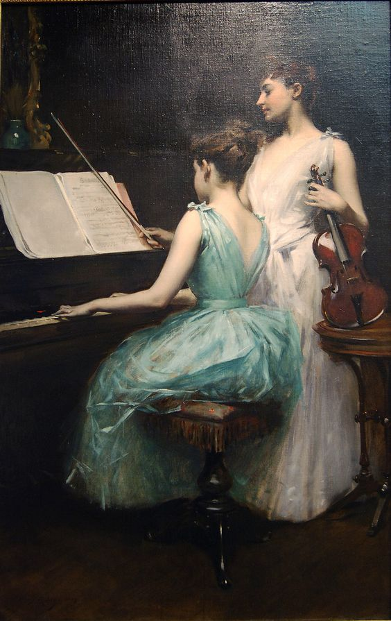 1889. The Sonata by Irving Ramsay Wiles.