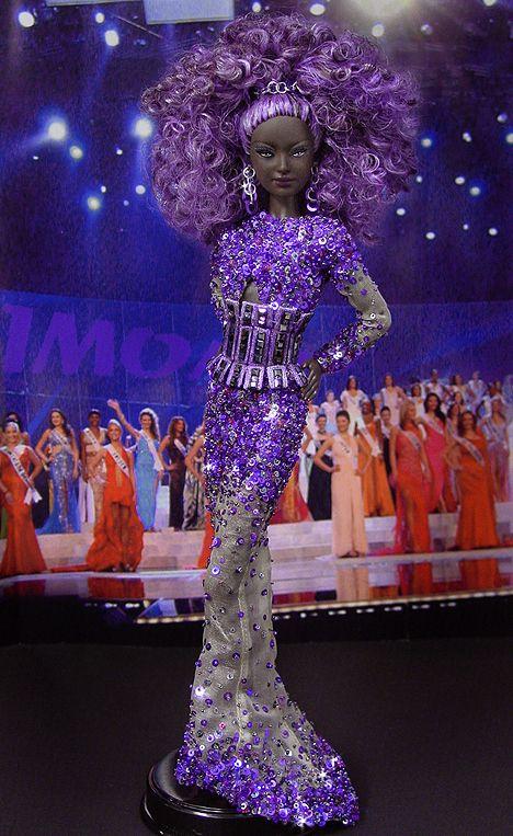 OOAK Barbie NiniMomo's Miss Uganda 2011: