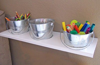 DIY Art supply shelf