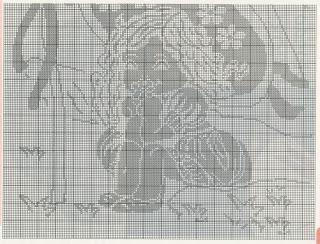 Schemi per il filet:  Copertina per bambina