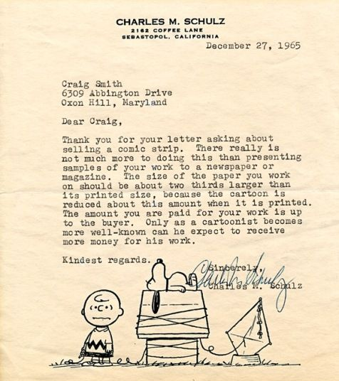 Peanuts was not what you would call a brainstorm but mostly just - personal letterhead