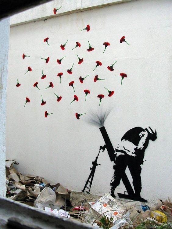 Бэнкси - граффити миномет