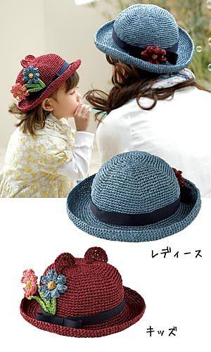 patrones gráficos de un montón de gorros y sombreros
