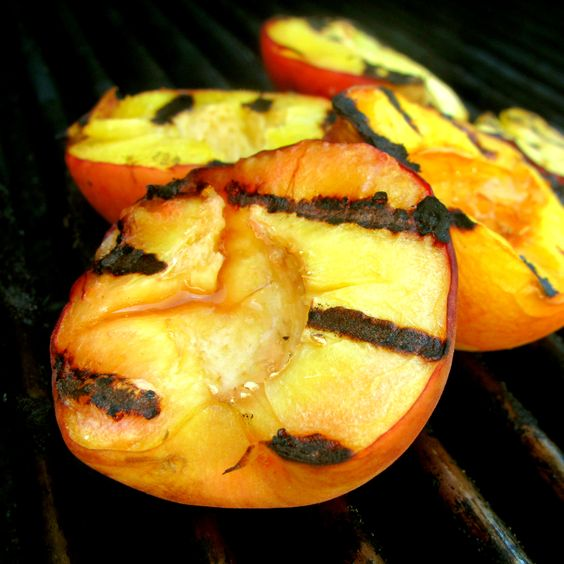 Peaches soaked in Rum & Tossed w/ Honey, Almond/Vanilla Extract, & Grilled to Perfection. A.M.A.Z.I.N.G.