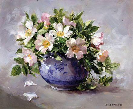 Wild Roses - Limited Edition Print | Mill House Fine Art – Publishers of Anne Cotterill Flower Art: