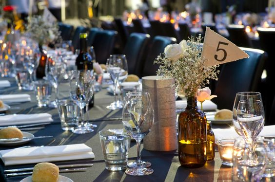 Beautiful Tables for Simon and Melissa's wedding at Showtime