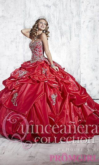 Elegant Strapless Quince Gown by House of Wu at PromGirl.com #promgirl #quinceanera #gown