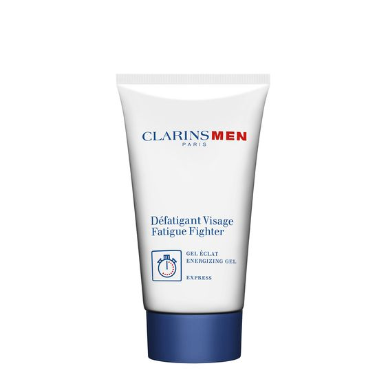 """ClarinsMen Fatigue Fighter - Too much stress? Not enough rest? Clarins' clear, non-oily gel — with Shea Butter and Marula — instantly firms, energizes and revives a tired, stressed complexion. Helps skin recover from shaving with Purslane, Centella and Blue Alpine Thistle. Skin rebounds with renewed vitality and a soft, comfortable texture. The ultimate """"S.O.S."""" refresher."""