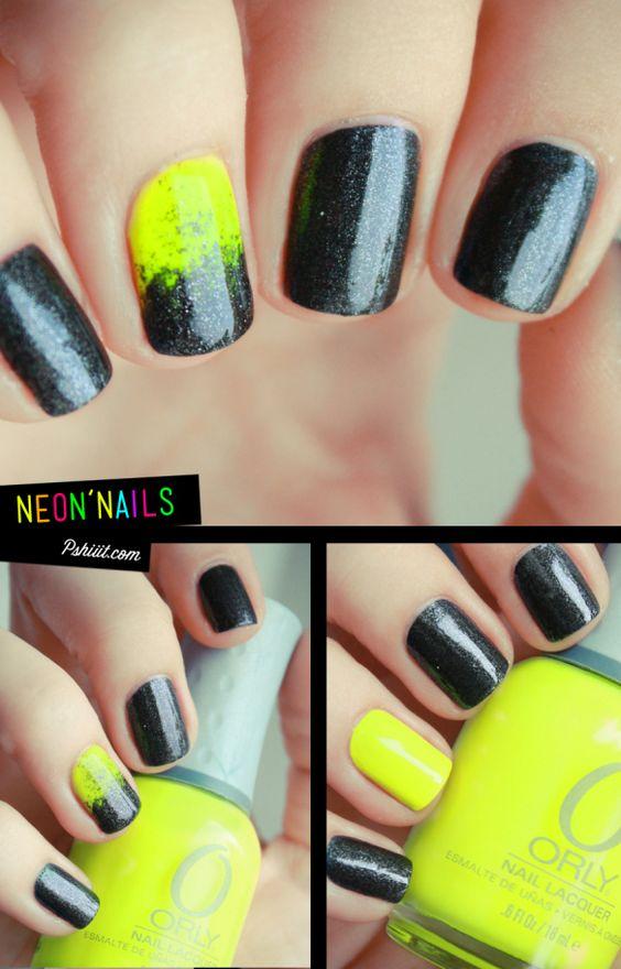 NéonNails // Nail Art fluo & nimportetest | PSHIIIT